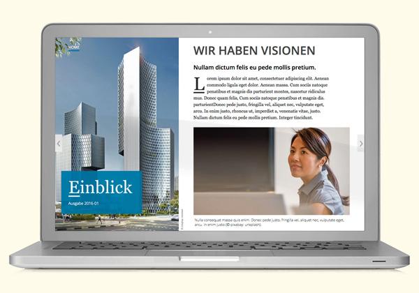 Online-Magazin an Corporate Design angepasst