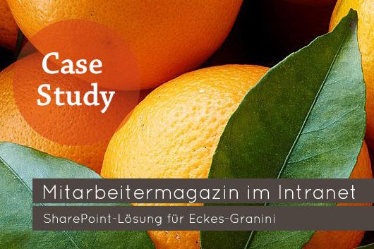 Mitarbeitermagazin im Intranet SharePoint-Lösung für Eckes-Granini