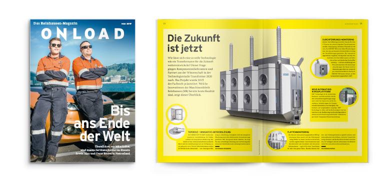 Onload Vertriebsmagazin der Reinhausen Gruppe