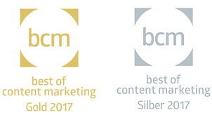 best of content marketing gold und silber 2017