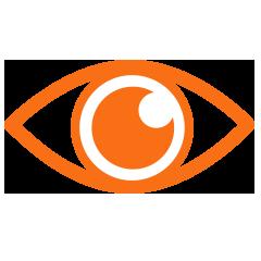 Auge scannt Seite