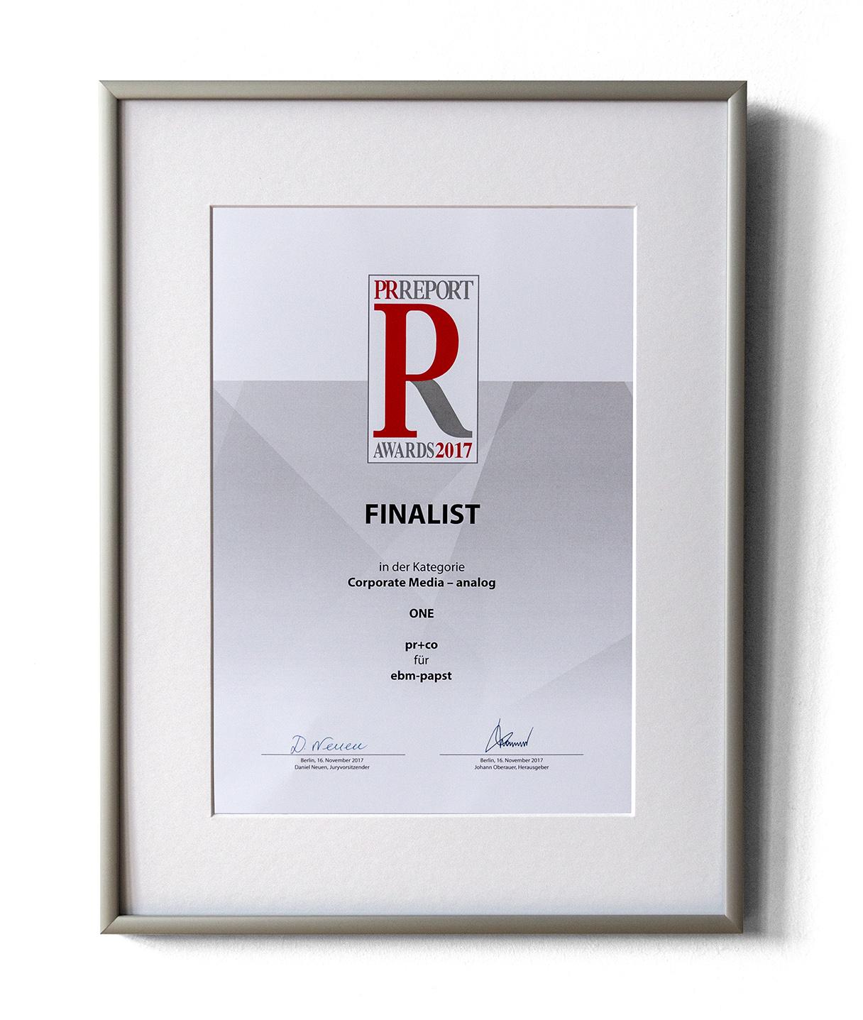 PR Report Award