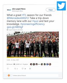 Mercedes AMG Petronas auf Twitter
